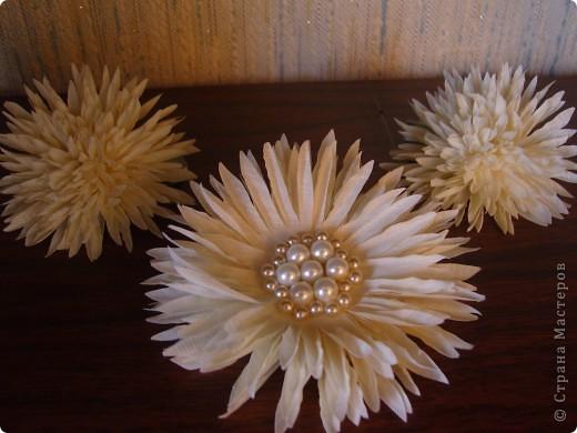 Хризантемы из ткани...много цветов... фото 16