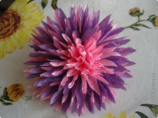 Хризантемы из ткани...много цветов... фото 6