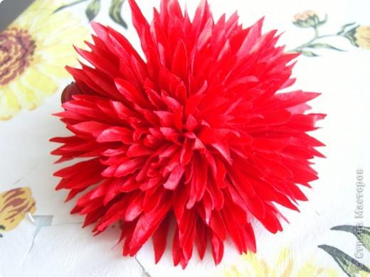 Хризантемы из ткани...много цветов... фото 7