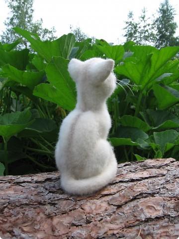 Феликс - кот эрудит, у компьютера сидит. Интеллектом обладает, всё на свете понимает. Рост 20 см. Шерсть, пластик. фото 2