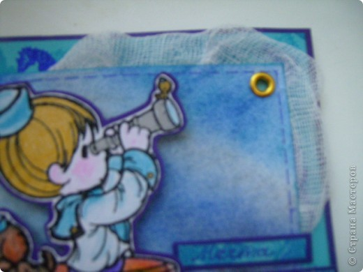 Вот такая открытка родилась у меня сегодня. На морскую тему. Это открытка пожелание (мое), аккуратный намек мужу. фото 2