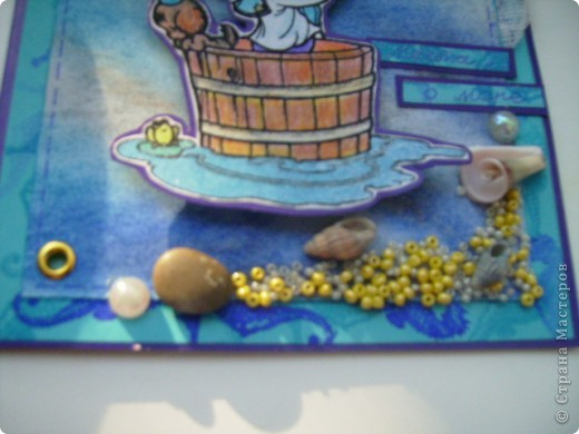 Вот такая открытка родилась у меня сегодня. На морскую тему. Это открытка пожелание (мое), аккуратный намек мужу. фото 3