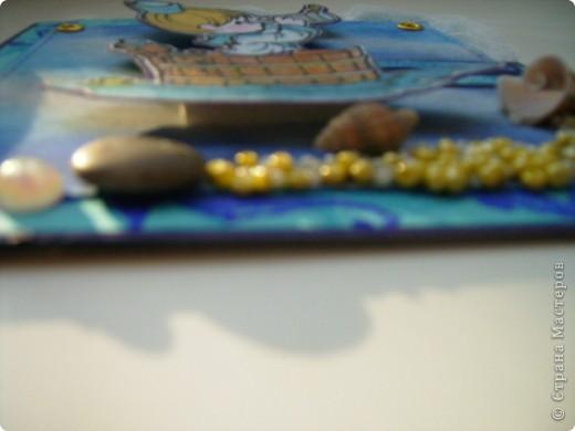 Вот такая открытка родилась у меня сегодня. На морскую тему. Это открытка пожелание (мое), аккуратный намек мужу. фото 4