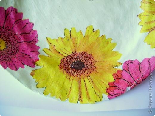 Тарелочка в технике папье-маше) фото 2