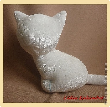 Белый котёнок. Мастер класс. фото 18