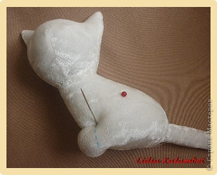 Белый котёнок. Мастер класс. фото 19