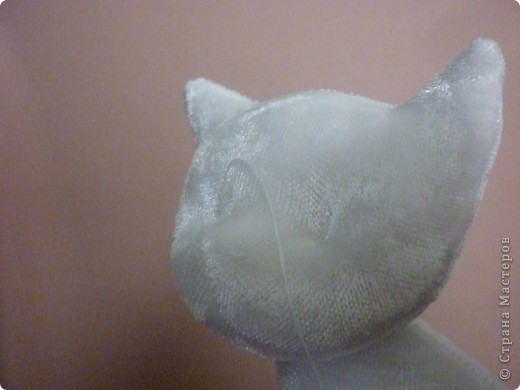 Белый котёнок. Мастер класс. фото 35