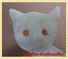 Белый котёнок. Мастер класс. фото 36