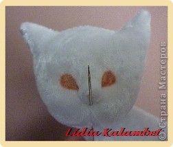 Белый котёнок. Мастер класс. фото 40