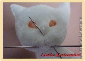 Белый котёнок. Мастер класс. фото 42
