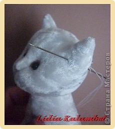 Белый котёнок. Мастер класс. фото 44