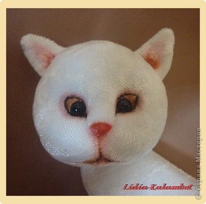 Белый котёнок. Мастер класс. фото 48