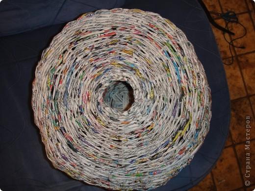 Мой первый опыт в плетении из газет - кошкин дом))) фото 2