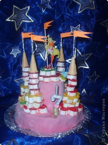 Такой  тортик  испекла  дочке  на   день  рождения фото 1