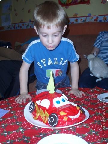 """В прошлом  году  на  день  рождения сынишке- большому поклоннику  мультфильма """"Тачки"""" фото 3"""