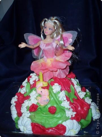 На  5-летие  моей  маленькой  принцессе  делала такой  тортик фото 1