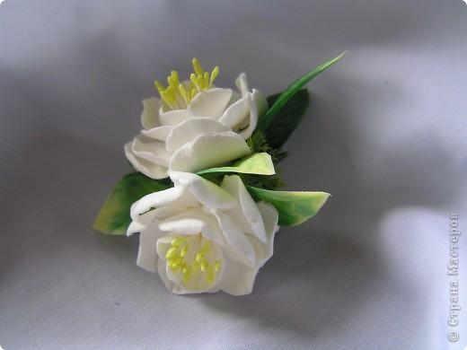 Махровый жасмин. Заколка фото 2