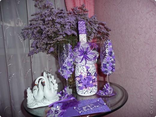 Свадебный набор - хит лета фиолетовый.... фото 1