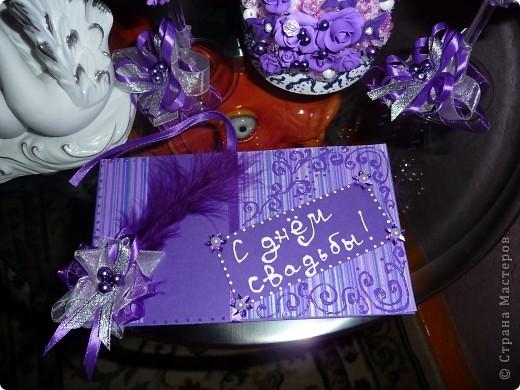 Свадебный набор - хит лета фиолетовый.... фото 4