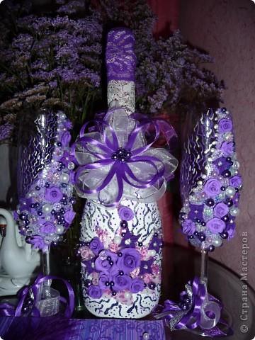 Свадебный набор - хит лета фиолетовый.... фото 2