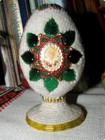 Великоднє яйце з бісеру фото 1