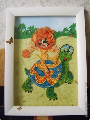 1,Львенок и черепаха , размер А4 фото 2