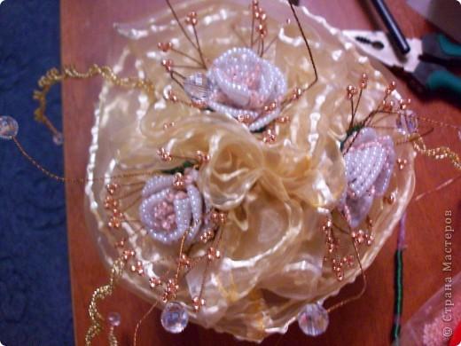 Свадебный букет невесты. Мне так захотелось его сделать,что я 2 дня не могла остановиться. фото 2