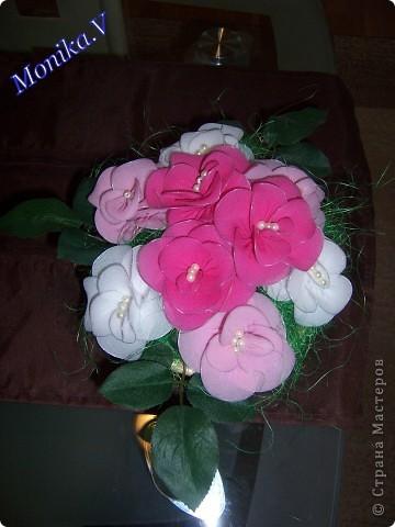 цветочки из капрона