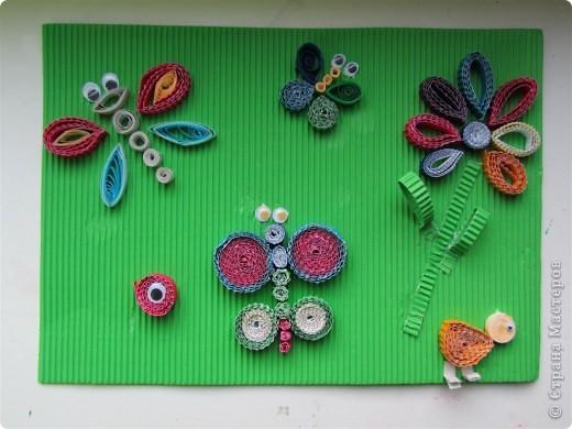бабочки -стрекозки - совместная работа детишек 5-12 лет фото 1
