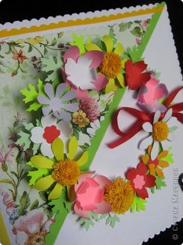 """""""Срочная"""" открытка на день рождения. Хотелось передать июльский жар лета, луговое цветение и добела выцветшее небо фото 5"""