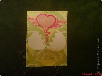Увидела  у Innyska   МК этого сердечка из бумаги и так оно мне понравилось, что захотелось куда -нибудь  пристроить) фото 3