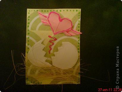 Увидела  у Innyska   МК этого сердечка из бумаги и так оно мне понравилось, что захотелось куда -нибудь  пристроить) фото 4