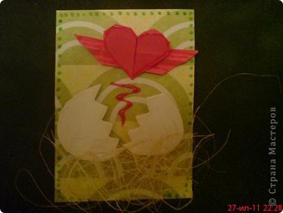 Увидела  у Innyska   МК этого сердечка из бумаги и так оно мне понравилось, что захотелось куда -нибудь  пристроить) фото 5