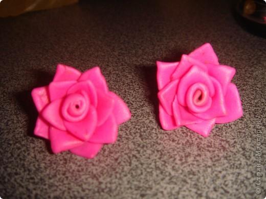 Розы из пластики  фото 2