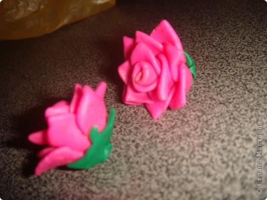 Розы из пластики  фото 3
