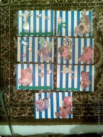Серия из 8 карточек.Одну я сразу убрала чтобы не смущать умы...опять прошу простить за качество...но на дворе 2 часа ночи..а при свете лампы...увы  фото 1
