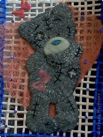 Моё любимое творение! Тзддика я сделала из сол.теста, на нём и сверху декупажные бабочки фото 2