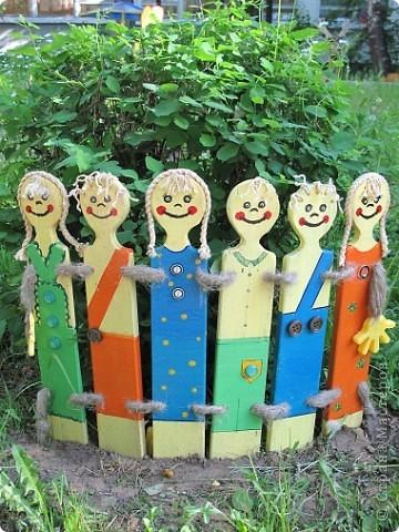 Заборчики в детском саду