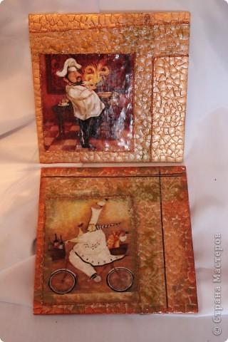 Подставки под горячее, делала на старой керамической плитке. фото 1
