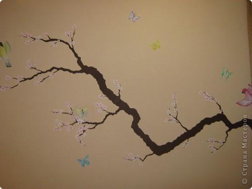 """Роспись стены """"Сакура"""" фото 1"""