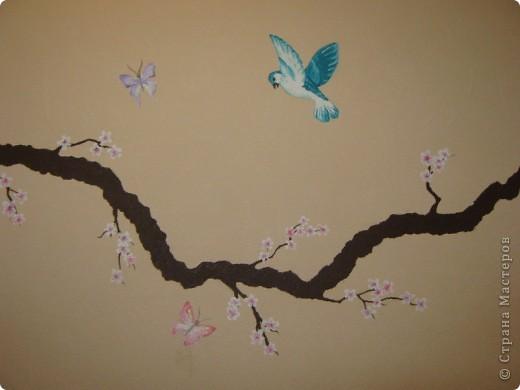 """Роспись стены """"Сакура"""" фото 4"""