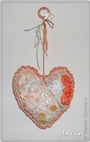 """Доброго Лета!  Сердечки подарочные, из моей любимой серии """"слепила из того, что было"""". :))) фото 4"""