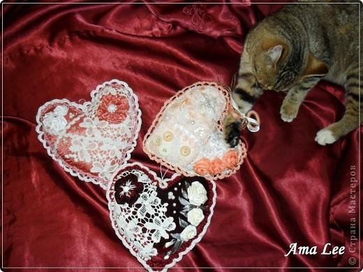 """Доброго Лета!  Сердечки подарочные, из моей любимой серии """"слепила из того, что было"""". :))) фото 3"""