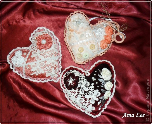 """Доброго Лета!  Сердечки подарочные, из моей любимой серии """"слепила из того, что было"""". :))) фото 2"""