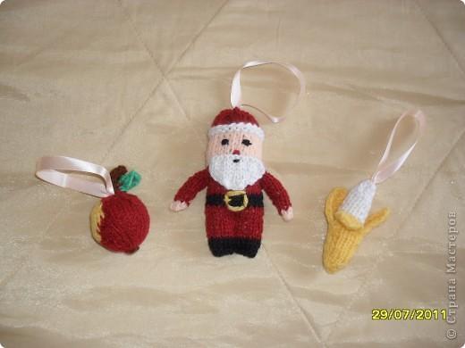Ёлочные игрушки, связанные спицами фото 2