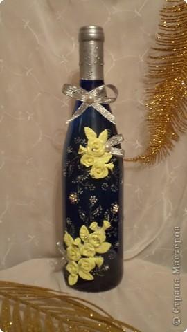 Вот такая бутылочка вина, хлеб-каравай, солоночка с солью  будет на сватовстве.  фото 1