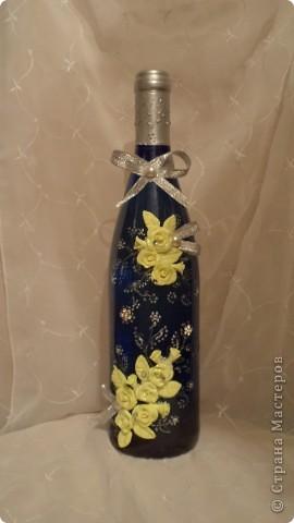 Вот такая бутылочка вина, хлеб-каравай, солоночка с солью  будет на сватовстве.  фото 2