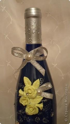 Вот такая бутылочка вина, хлеб-каравай, солоночка с солью  будет на сватовстве.  фото 3