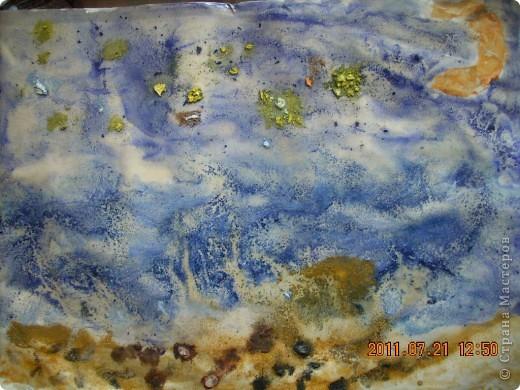 Берег, море, небо, звёзды... Рисовал сынишка, ему 4 года. фото 1