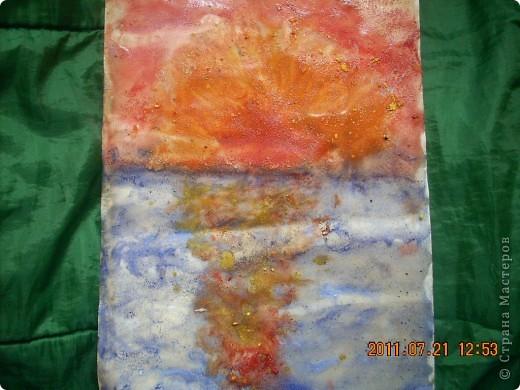 Берег, море, небо, звёзды... Рисовал сынишка, ему 4 года. фото 2